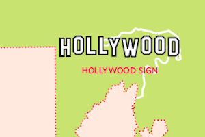 P-22 map Hollywood Sign