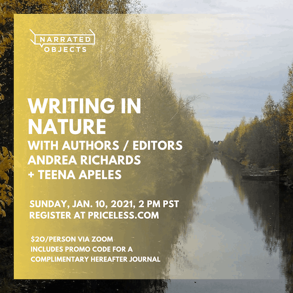 Priceless: Learn how to tap into the inspiration of the outdoors during a virtual Writing in Nature workshop on January 10, 2021.